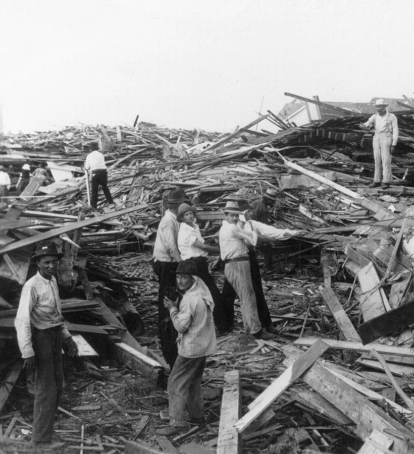 Galveston Disaster - C 1900 Photograph  - Galveston Disaster - C 1900 Fine Art Print