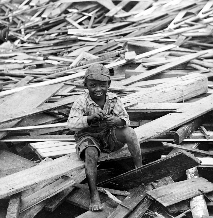 Galveston Flood Survivor - September - 1900 Photograph