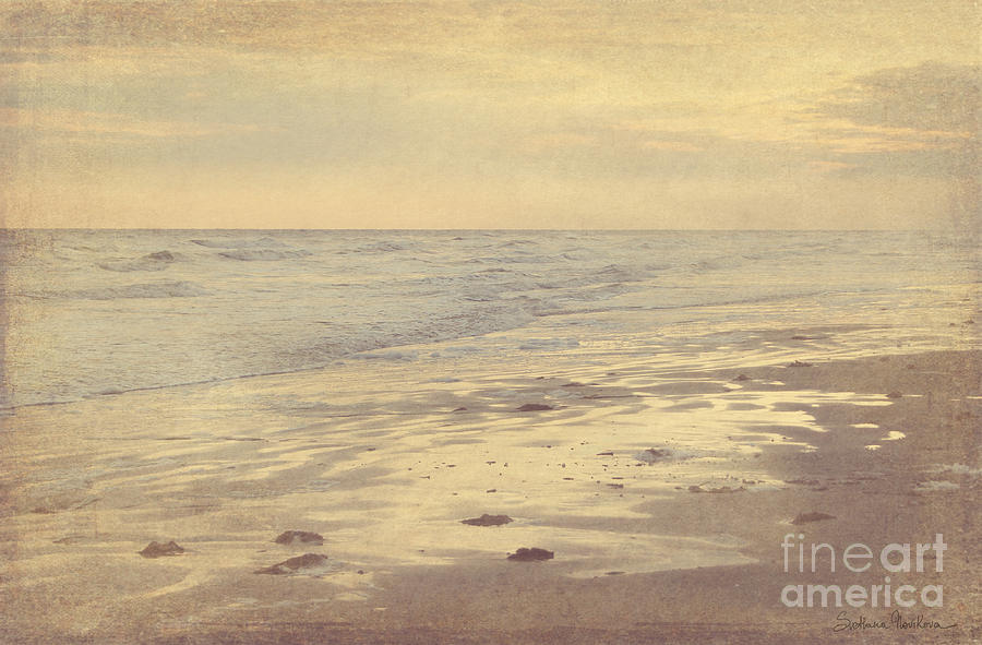 Galveston Island Sunset Seascape Photo Photograph  - Galveston Island Sunset Seascape Photo Fine Art Print