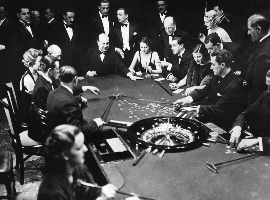 1930s Photograph - Gambling In Monte Carlo, On The French by Everett