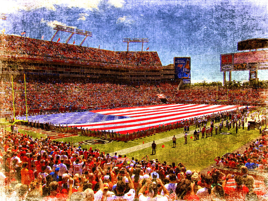 Game Day Nine Eleven Tribute Photograph  - Game Day Nine Eleven Tribute Fine Art Print