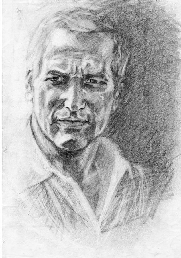 Paul Newman Drawing - Game Of Light by April Lily