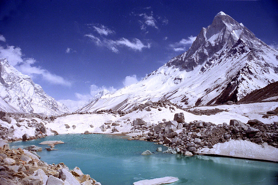 Gandharva Tal And Mount Shivaling Photograph
