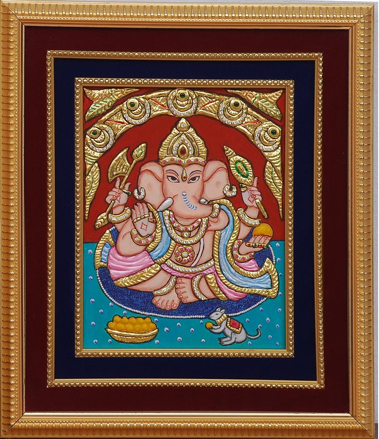 Ganesh Ji Tanjore Art Painting