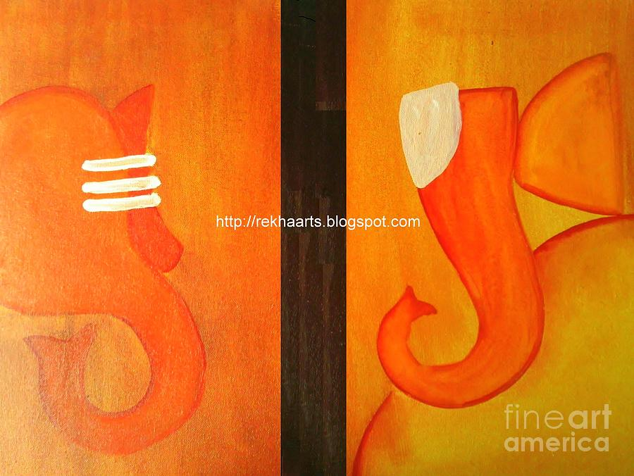 Ganesha Paintings by Rekha Artz