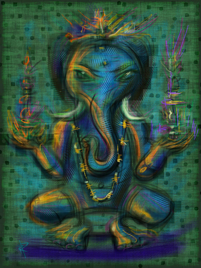 Ganesha Mixed Media  - Ganesha Fine Art Print