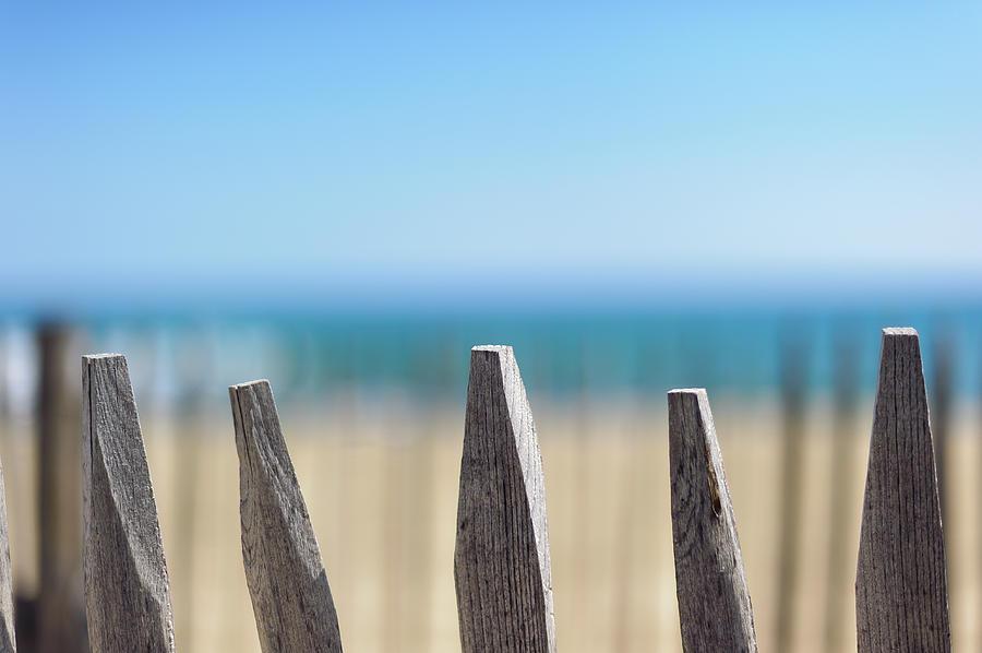 Ganivelles At Ste Maxime Beach, Golfe De St-tropez Photograph