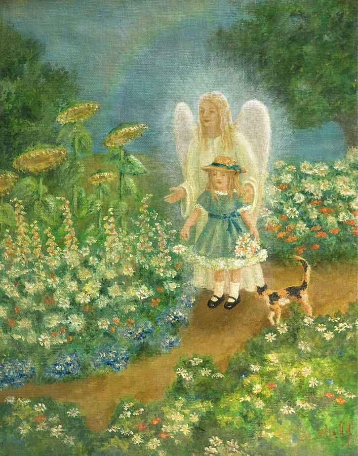 Garden Angel By Bernadette Wulf
