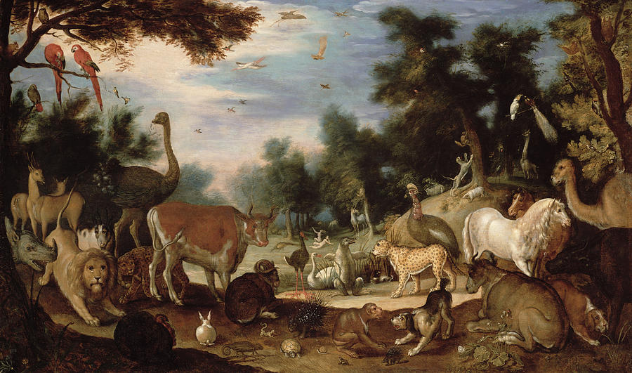 Garden Of Eden Painting by Jacob Bouttats
