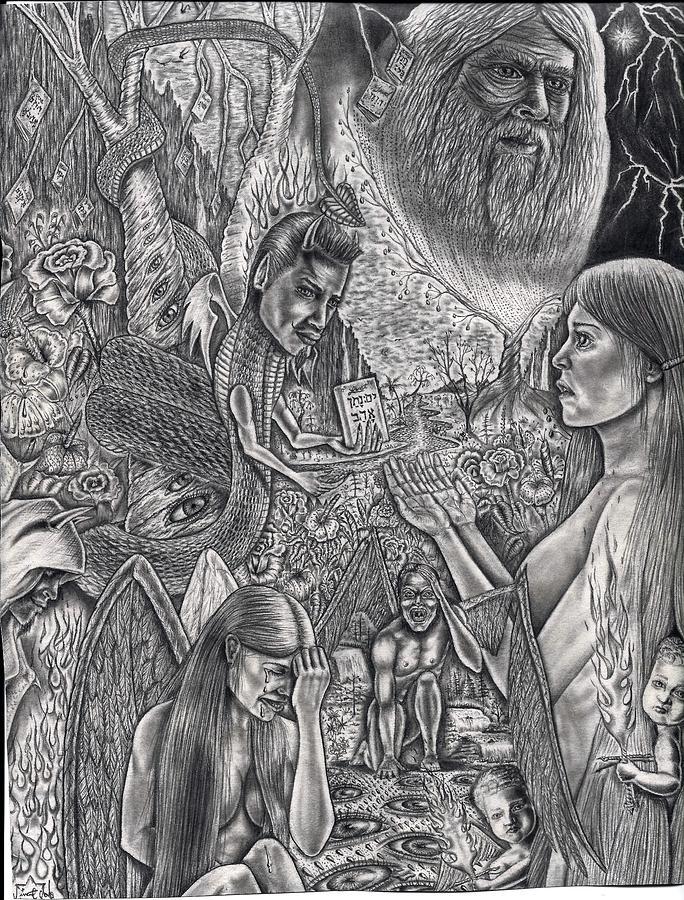 Garden Of Eden Drawing