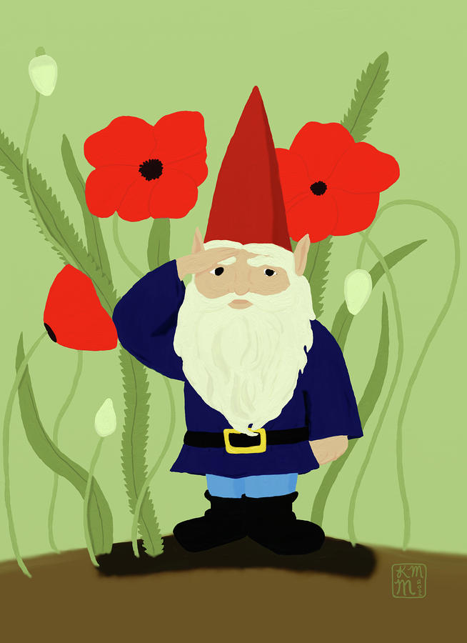 how to draw a garden gnome