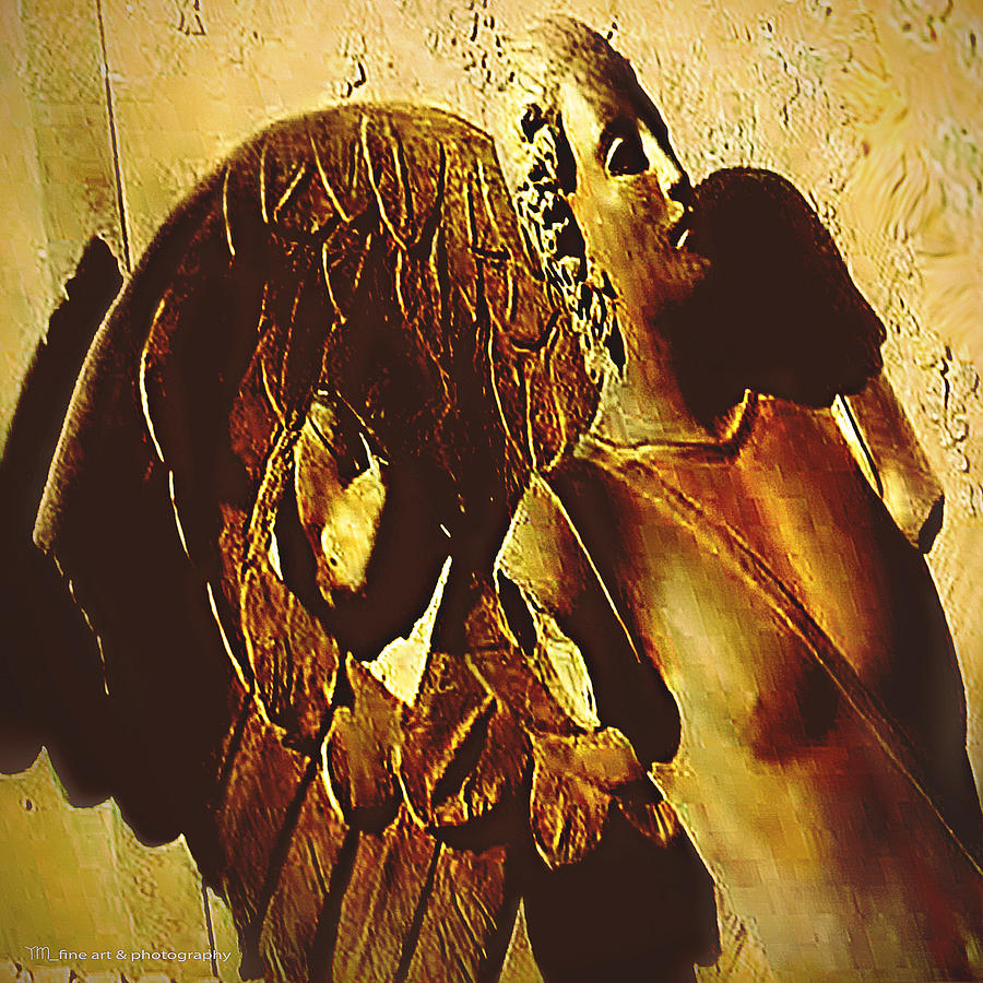 Gardian Angel Relief  - Gardian Angel Fine Art Print