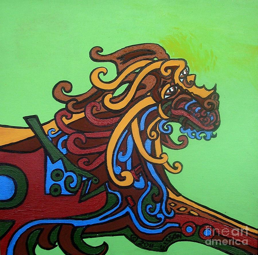 Gargoyle Dog Painting