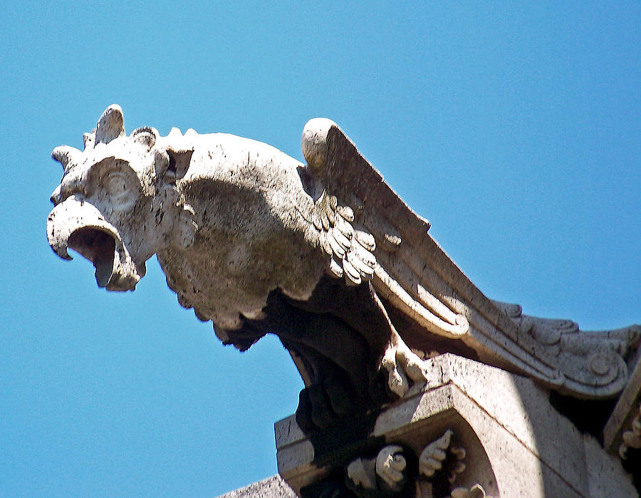 Gargoyle On Notre Dam Photograph