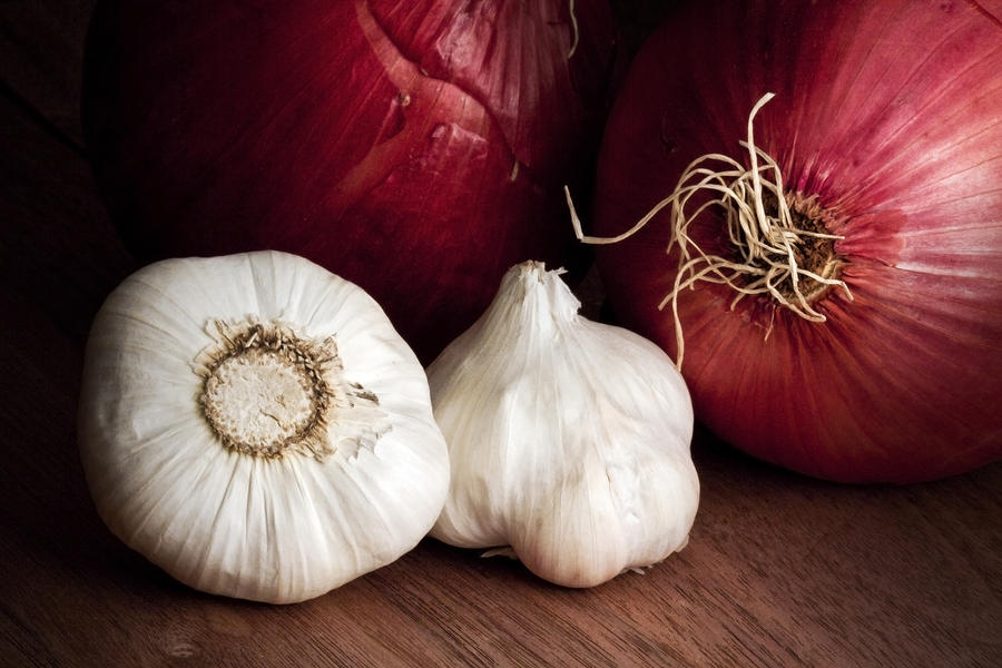 Garlic And Onions Photograph