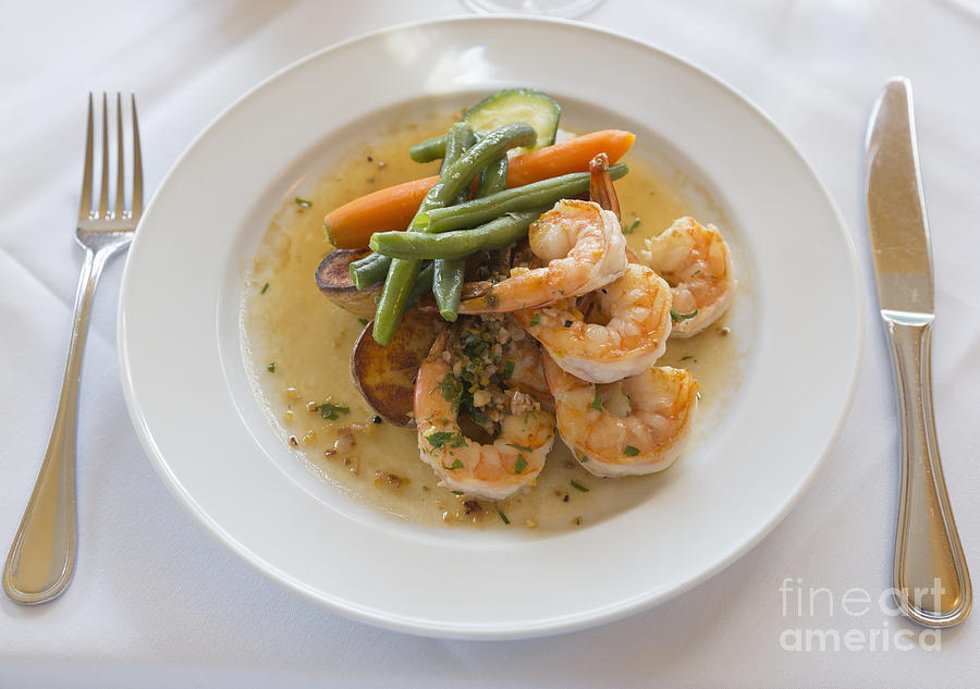Garlic Prawns Photograph