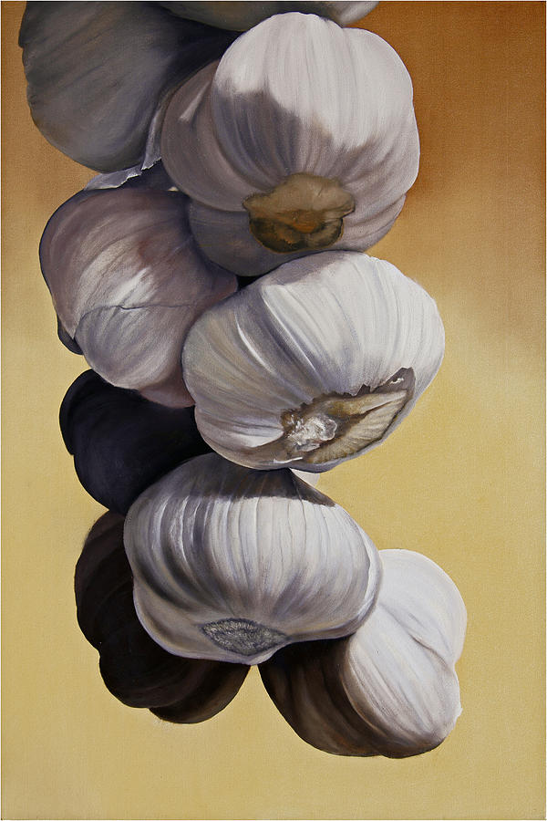 Garlic Still Life Painting