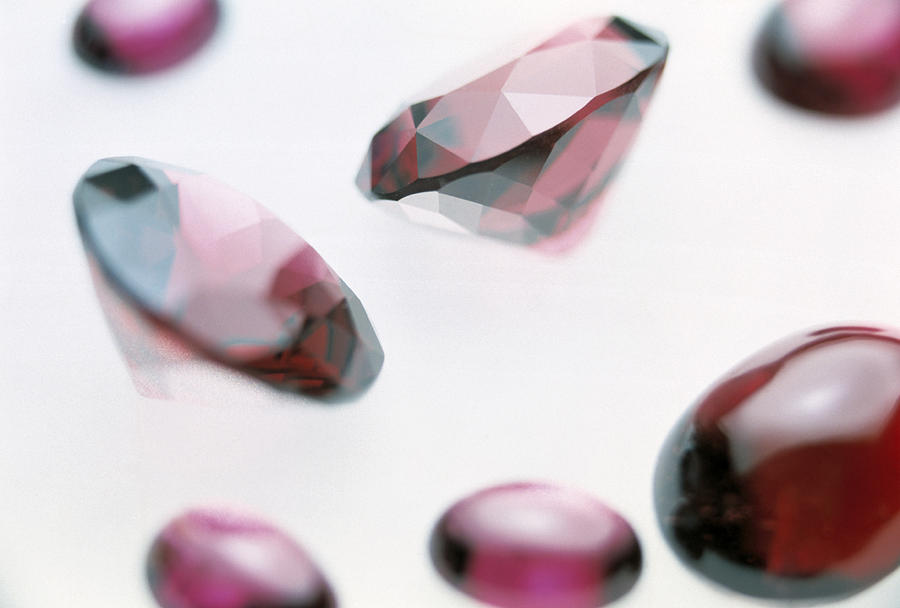 Garnet Gemstones Photograph  - Garnet Gemstones Fine Art Print