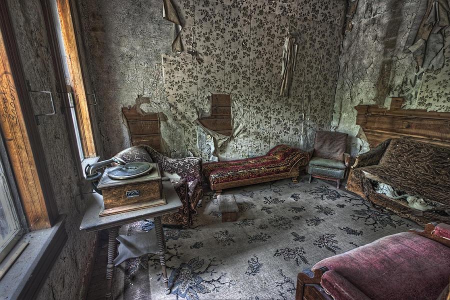 Garnet Photograph - Garnet Ghost Town Hotel Parlor - Montana by Daniel Hagerman