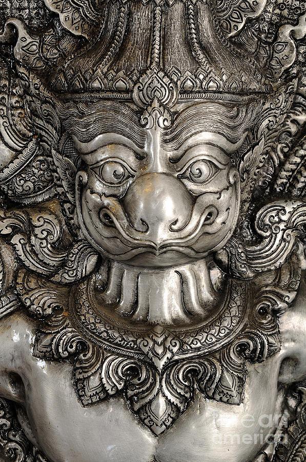 Garuda Silver Sculpture
