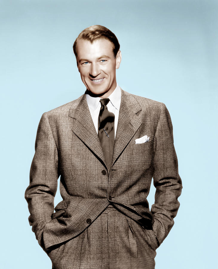 Gary Cooper, Ca. Early 1940s Photograph  - Gary Cooper, Ca. Early 1940s Fine Art Print