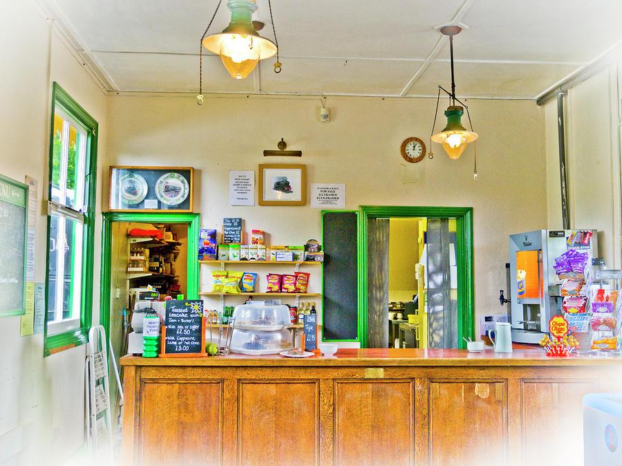 Gas Lamp Cafe Photograph