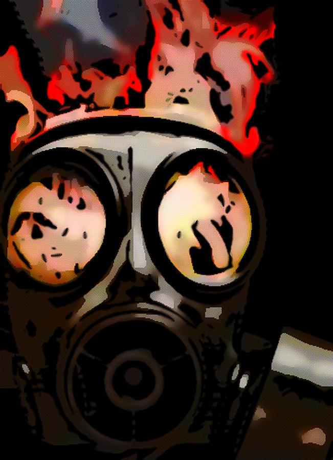 Gas Mask Digital Art