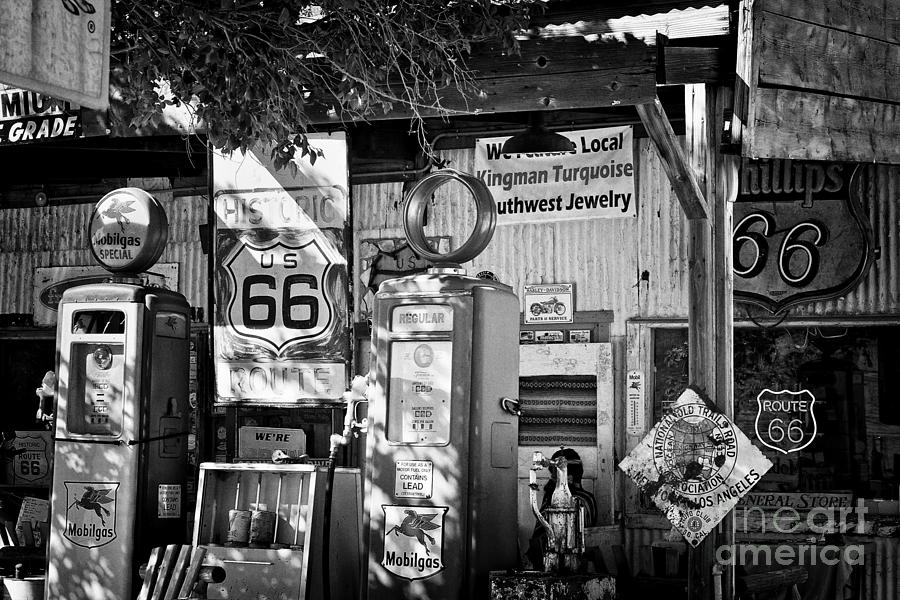Gas Station On Route 66 Photograph  - Gas Station On Route 66 Fine Art Print