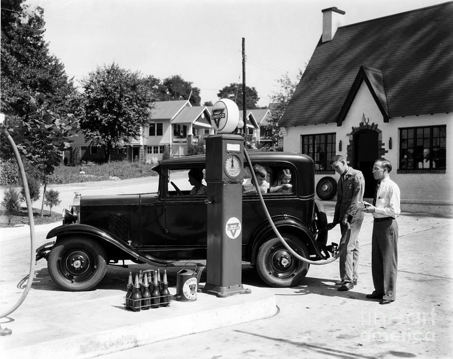 Gas Station Photograph
