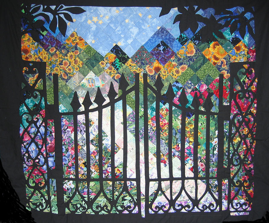 Gate Into The Garden Tapestry - Textile