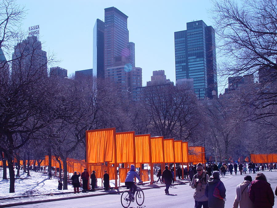 Gates And Snow In Central Park Digital Art