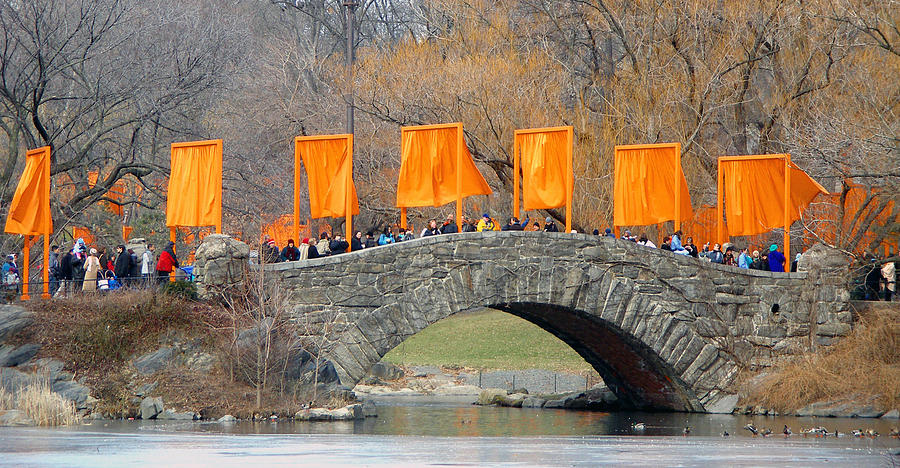 Christo And Jeanne-claude Photograph - Gates Over Gapstow Bridge  by Frank Winters