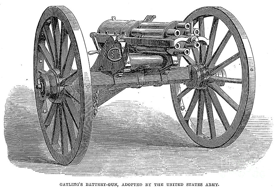 Gatling Gun, 1867 Photograph