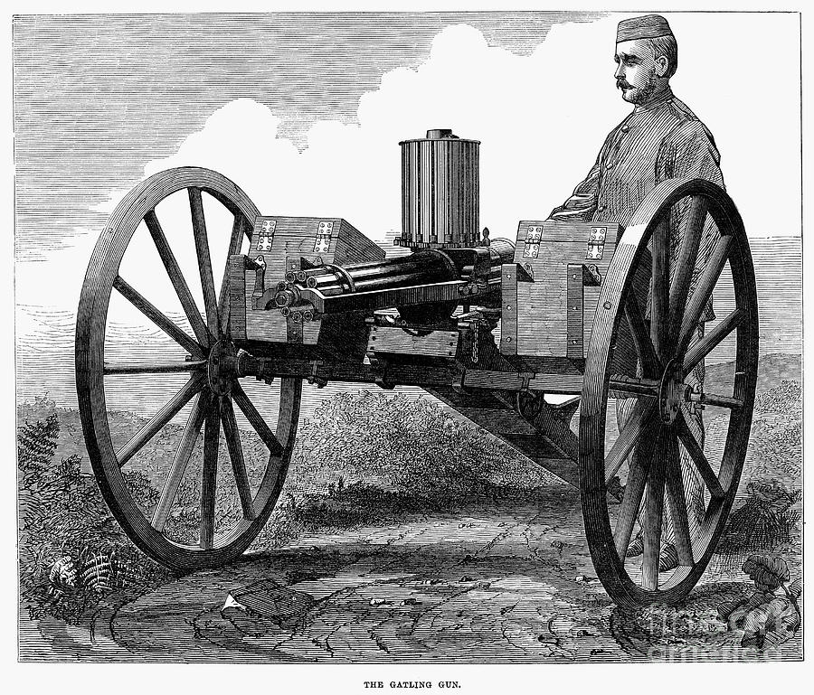 Gatling Gun, 1872 Photograph