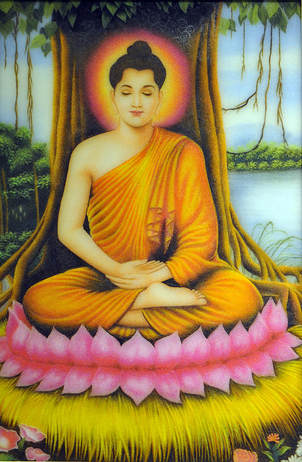 Paintings Painting - Gautama Buddha by Created by handicap artists