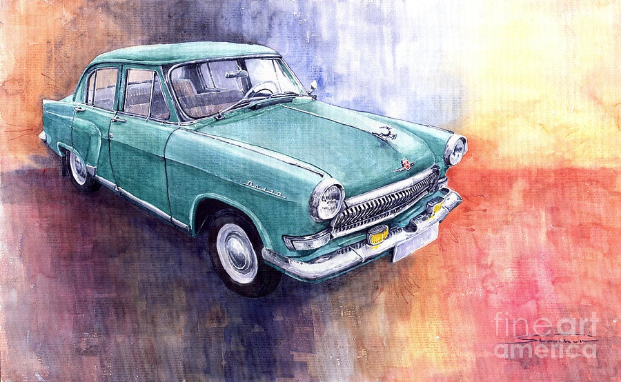 Gaz 21 Volga Painting