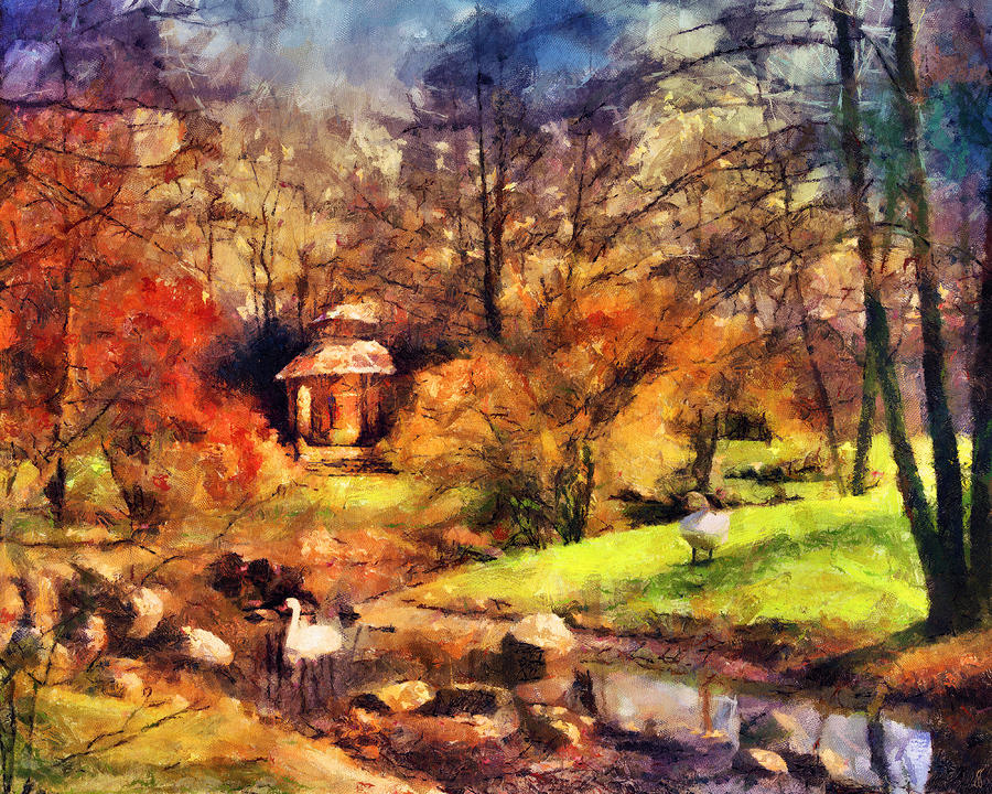 Gazebo In The Park Painting  - Gazebo In The Park Fine Art Print