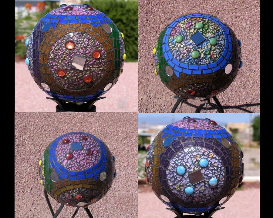 Gazing Ball Sphere Handmade Mosaic For Your Yard G233 Glass Art 