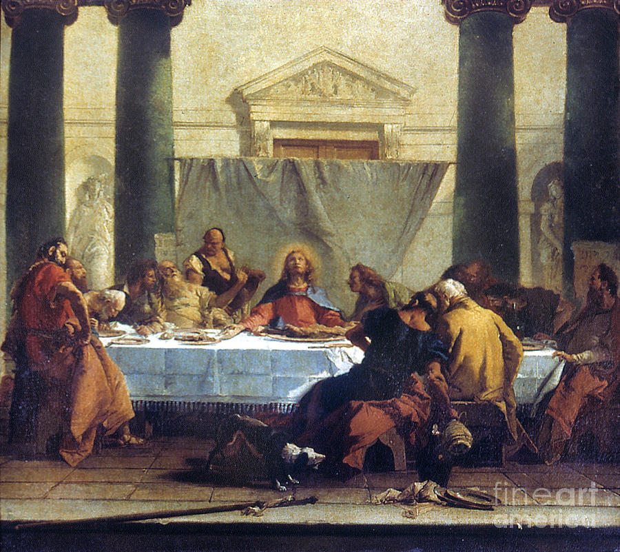 G.b. Tiepolo: Last Supper Painting