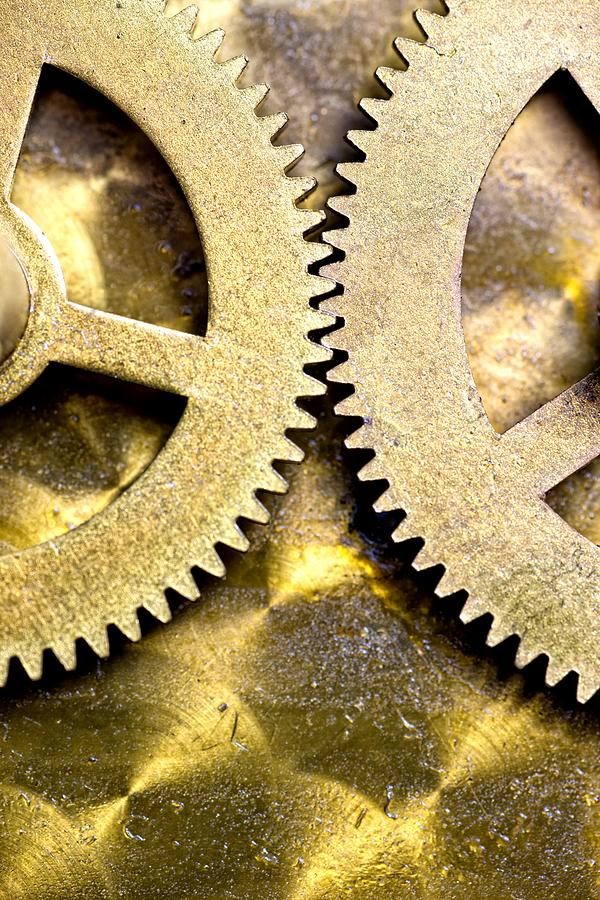 Gears From Inside A Wind-up Clock Photograph