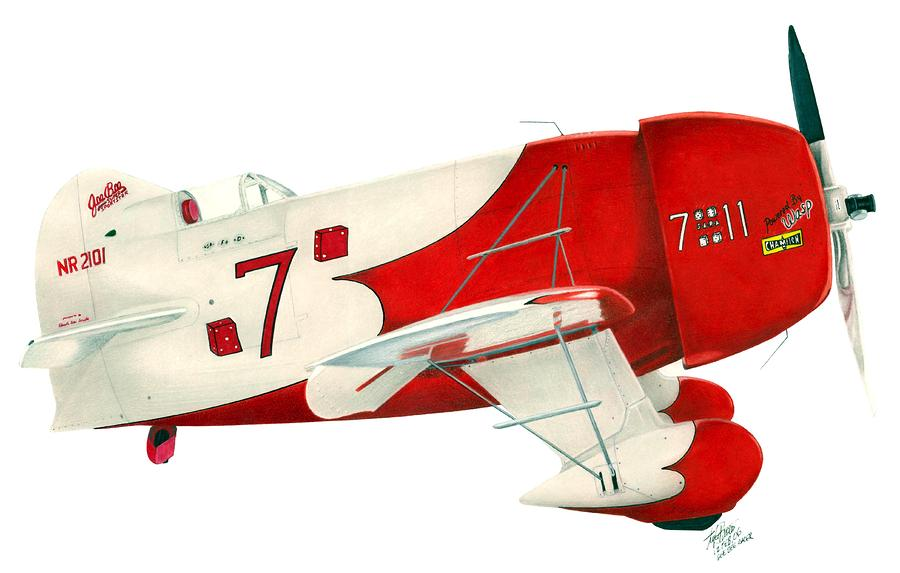 Gee Bee Drawing  - Gee Bee Fine Art Print