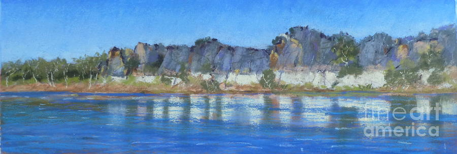 Geikie Gorge River Cruise Pastel - Geikie Gorge by Nadine Kelly