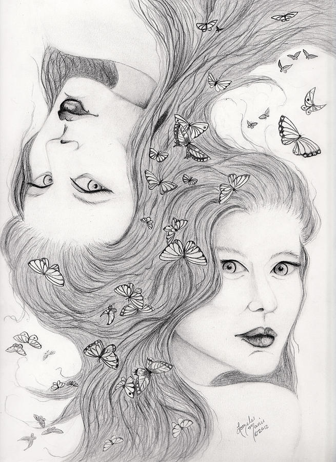 Gemini Drawing  - Gemini Fine Art Print