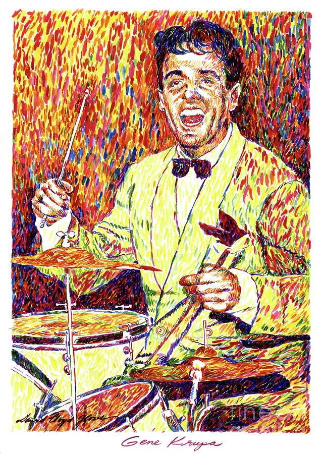 Gene Krupa The Drummer Painting  - Gene Krupa The Drummer Fine Art Print