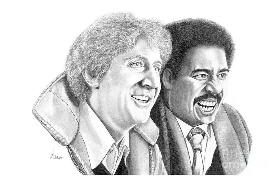 Gene Wilder-richard Pryor Drawing  - Gene Wilder-richard Pryor Fine Art Print