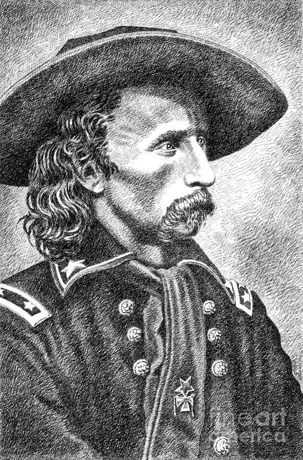 General Custer Drawing