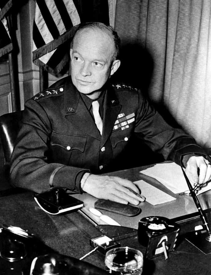General Dwight D. Eisenhower, January Photograph  - General Dwight D. Eisenhower, January Fine Art Print