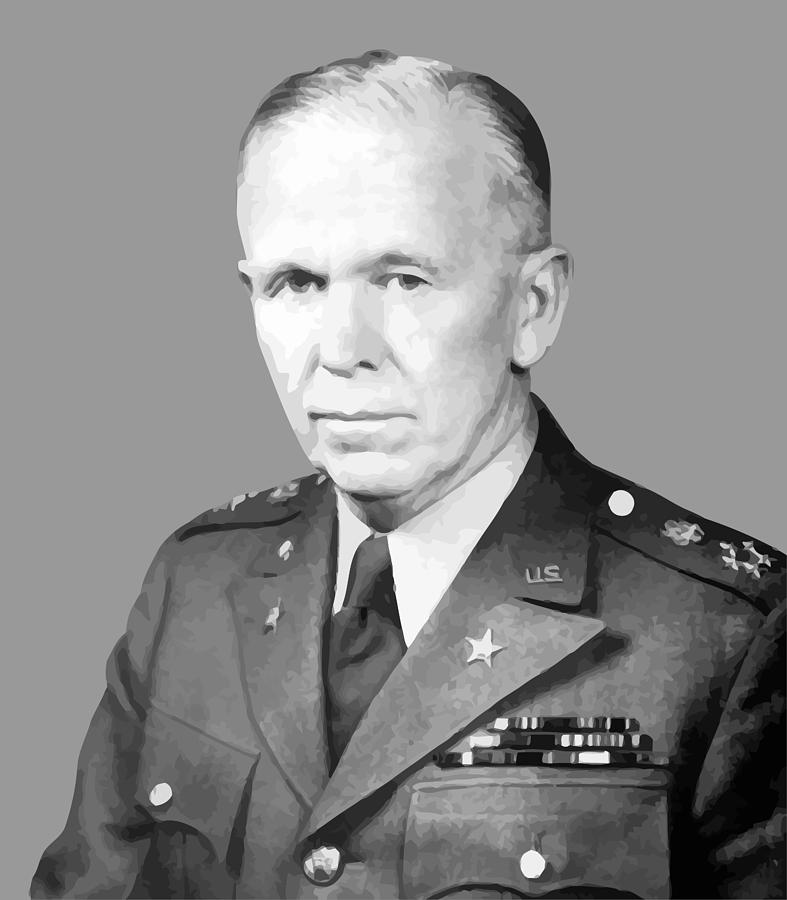 General George Marshall Painting  - General George Marshall Fine Art Print