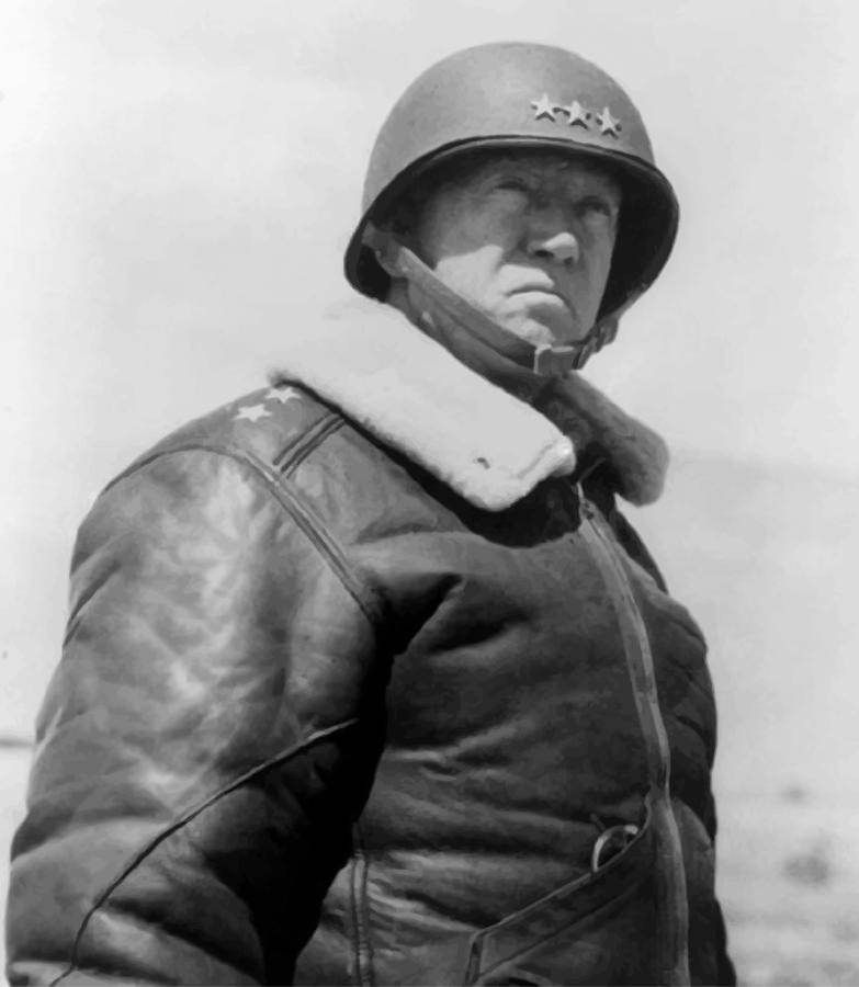General George S. Patton Painting  - General George S. Patton Fine Art Print
