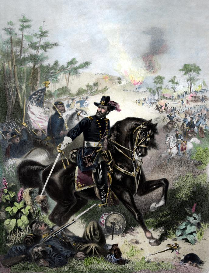General Grant During Battle Painting  - General Grant During Battle Fine Art Print
